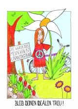 <h5>Bleib deinen Idealen treu!</h5><p>Los, lass uns die Welt verändern! Oder hast du schon vergessen, was dir früher so wichtig war?</p>
