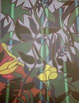 <h5>Erwins Bild</h5><p>Ein Bild für einen Arbeitskollegen im Stil des Löwen im Nachtwald.</p>