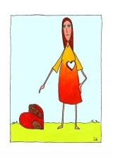 <h5>Herz mit Füßen</h5><p>Autsch!</p>