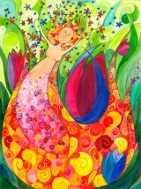 <h5>Frühlingserwachen</h5><p>Das Leben bricht auf und wächst dem Neuen entgegen. Ein Geschenk für eine Freundin.</p>