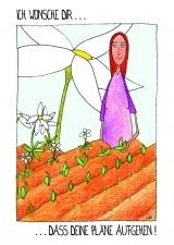 <h5>Ich wünsche dir, dass deine Pläne aufgehen</h5><p>Ich bin ganz stolz: Was ich an Pflanzen, Träumen, Plänen gesät habe, ist aufgegangen und wächst nun heran.</p>