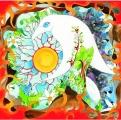 <h5>Weltenvogel</h5><p>Der Weltenvogel... aus dem Bauch gemalt und keine Ahnung, was er bedeuten soll...</p>